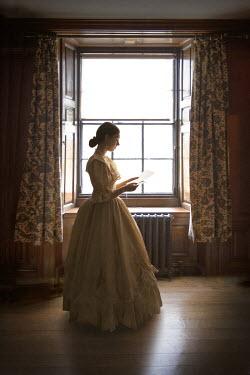 Lee Avison HISTORICAL WOMAN STANDING READING LETTER Women