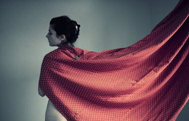 Veronica Gradinariu WOMAN WRAPPED IN SILK FABRIC Women