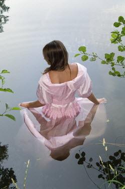 Carmen Spitznagel WOMAN IN GOWN IN LAKE Women