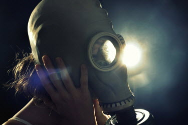 Stephen Carroll GIRL IN GAS MASK Women