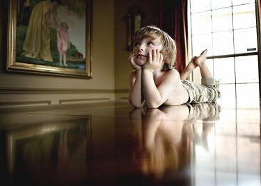 Mary Schannen LITTLE BOY ON TABLE Children