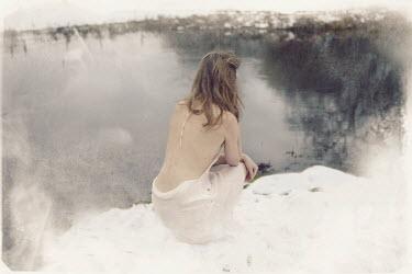 Sarah Louise Johnson GIRL BY LAKE IN WINTER Women