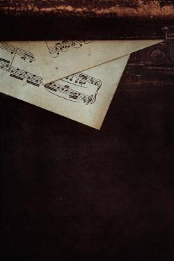 Maren Becker MUSIC SHEETS AND ANTIQUE CHEST Musical Instruments
