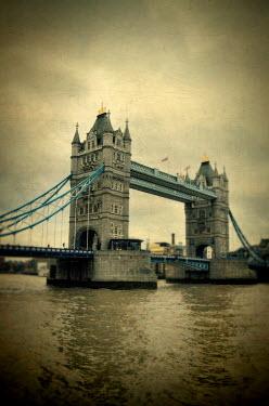 Jill Battaglia TOWER BRIDGE OVER CLOUDY RIVER THAMES Miscellaneous Cities/Towns