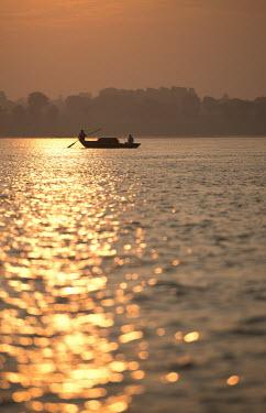 Michael Trevillion FISHING BOAT AT SUNSET Lakes/Rivers