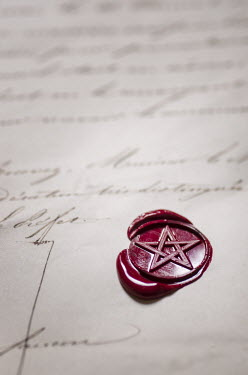 Mohamad Itani MASONIC WAX SEAL ON LETTER Miscellaneous Objects