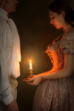 Lee Avison HISTORICAL COUPLE WITH CANDLE Couples