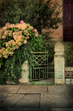 Jill Battaglia OPEN GARDEN GATE WITH HOUSE Gates
