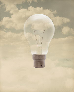 Peter Hatter LIGHT BULB FLOATING WITH CLOUDS Miscellaneous Objects