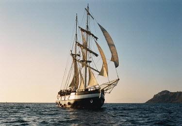 Michael Trevillion OLD SAILING SHIP BY COAST Boats