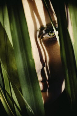 Eva Van Oosten WOMAN WITH PLANT LEAVES Women