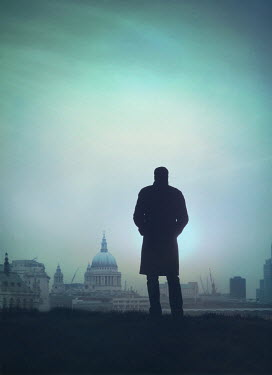 Mark Owen SILHOUETTE OF MAN BY ST PAUL'S CATHEDRAL Men