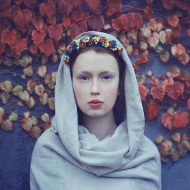 Oleg Oprisco WOMAN WITH HEADSCARF AND HEADDRESS Women
