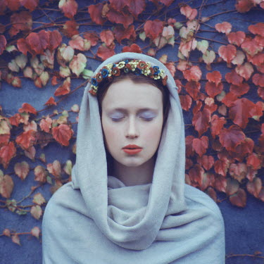 Oleg Oprisco WOMAN WITH HEAD SCARF AND HEADDRESS Women