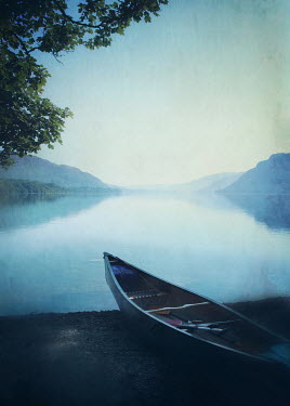 Mark Owen CANOE ON SHORE OF LAKE Boats