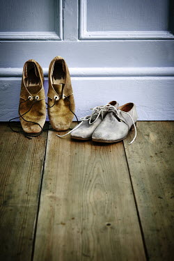 Andy & Michelle Kerry TWO PAIRS OF OLD LEATHER SHOES Miscellaneous Objects