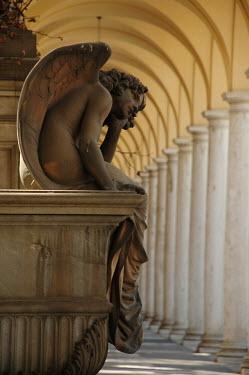 Viona Ielegems STATUE OF ANGEL UNDER COLONNADE Statuary/Gravestones