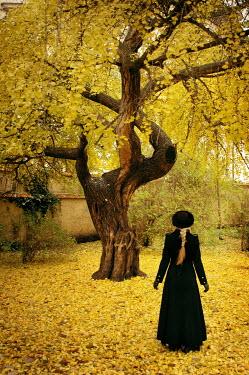 Viona Ielegems WOMAN STANDING UNDER AUTUMNAL TREE Women