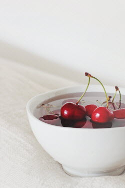 Giovan Battista D'Achille CHERRIES IN BOWL OF WATER Miscellaneous Objects