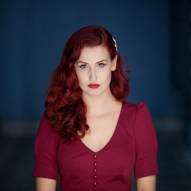 Pini Hamou VINTAGE STYLE WOMAN WITH RED HAIR Women