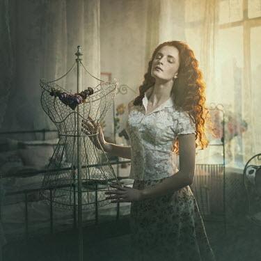 Margarita Kareva WOMAN IN BEDROOM WITH DRESSMAKER'S DUMMY Women