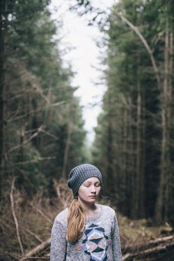 Doreen Kilfeather TEENAGE GIRL IN FOREST Women