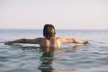 Doreen Kilfeather BOY SWIMMING IN SEA Men