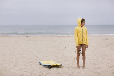 Doreen Kilfeather BOY ON BEACH WITH BODY BOARD Children