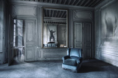 Franck Losay GRAND ROOM WITH GHOSTLY FIGURES Interiors/Rooms