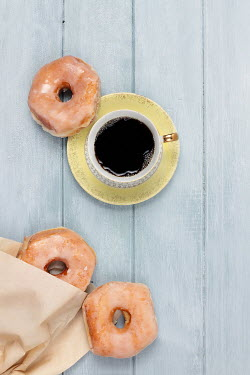 Stephanie Frey COFFEE CUP AND DOUGHNUTS Miscellaneous Objects