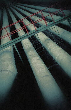 Trevor Payne INDUSTRIAL PIPES WITH WALKWAY AND LADDERS Building Detail