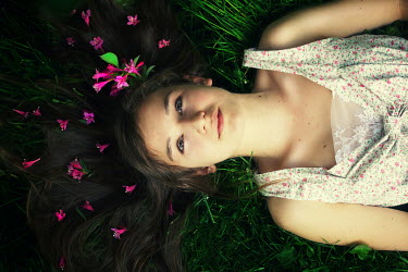Samantha Meglioli YOUNG GIRL LAYING ON GRASS Women