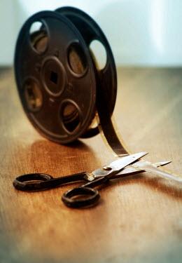 Jill Battaglia VINTAGE FILM REEL AND SCISSORS Miscellaneous Objects