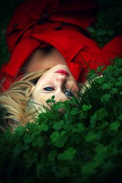 Samantha Meglioli WOMAN LYING ON GRASS Women