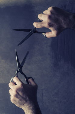 Mohamad Itani MALE HANDS TWO PAIRS OF SCISSORS Men