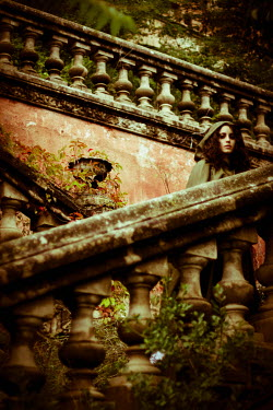 Helena Aguilar Mayans HISTORICAL WOMAN ON STONE STEPS Women