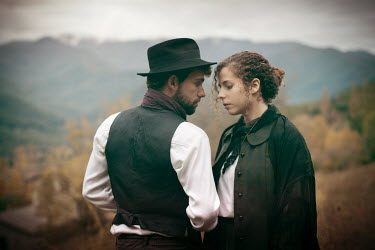 Helena Aguilar Mayans HISTORICAL COUPLE STANDING IN FIELD Couples