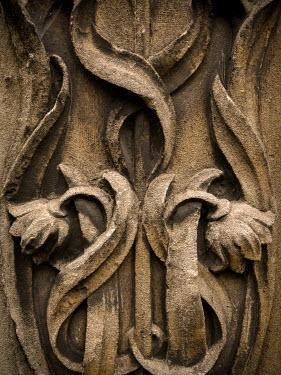 Trevor Payne OLD STONE CARVING OF FLOWERS Statuary/Gravestones