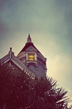 Susan Fox GOTHIC ROOF WITH LIGHT IN WINDOW See All Buildings/Architecture