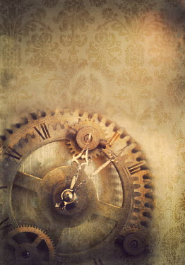Lyn Randle OLD METAL CLOCK PARTS AND WALLPAPER Miscellaneous Objects