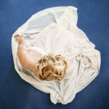 Vanessa Paxton BLONDE WOMAN SITTING, FROM ABOVE Women