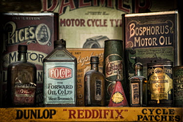 John Race VINTAGE MOTOR OIL CONTAINERS Miscellaneous Objects