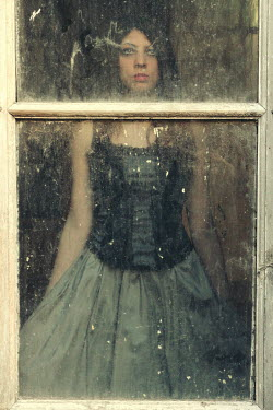 Diana Debord TEENAGE GIRL IN DRESS BY WINDOW Women
