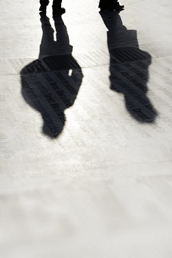 David Johnson MALE LEGS AND SHADOWS Groups/Crowds
