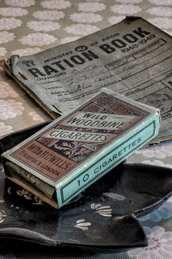 John Race VINTAGE CIGARETTES AND RATION BOOK Miscellaneous Objects