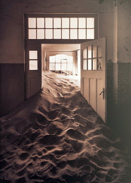 Sigrid Kolbe DERELICT HOUSE FILLED WITH SAND Interiors/Rooms