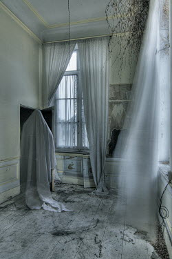Franck Losay GHOSTLY FIGURE IN DERELICT ROOM Interiors/Rooms