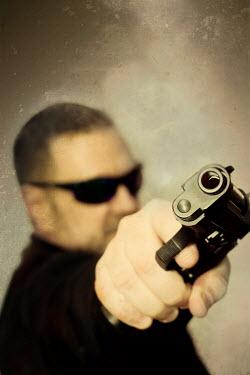 Victor Habbick MAN WITH GUN Men