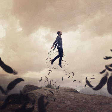 Joel Robison MAN FLYING WITH FEATHERS Men