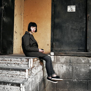 Daniil Kontorovich MODERN GIRL ON STONE STEPS Women